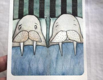 """Akvarellpaberile trükitud õnnitluskaart """"Ära morska"""""""